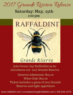 Official Grande Riserva Release - May 25th, 2019 - Wine Club 1pm