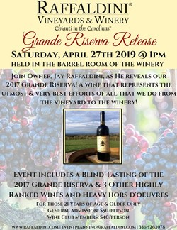Grande Riserva Release - April 27th 2019 - Wine Club 1pm Image
